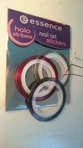 essence holo nail stripes