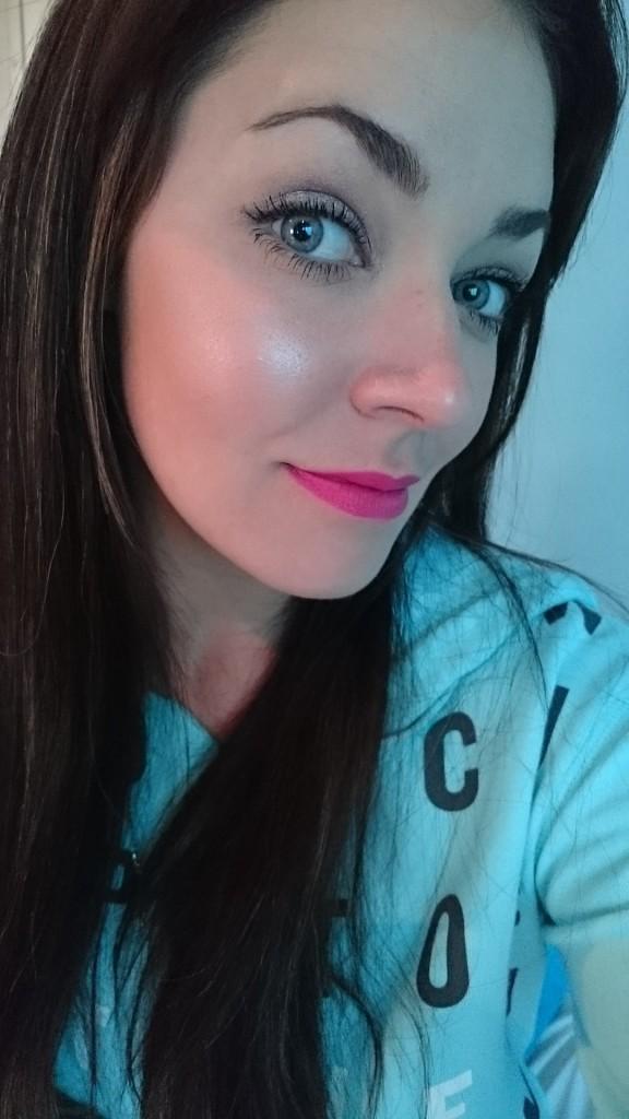 glowing blush look