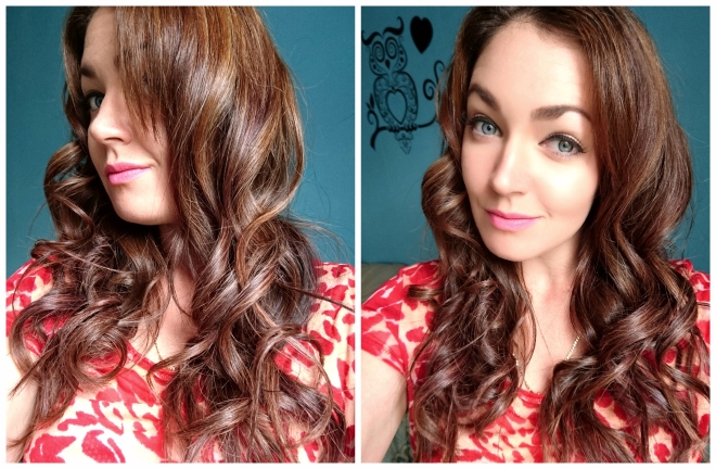 Curls from Glampalm curling wand